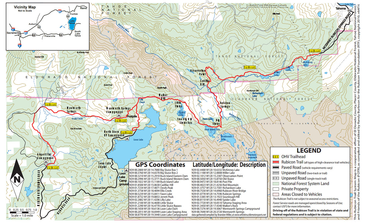 Rubicon trail map rubicon springs rubicon trail map gumiabroncs Gallery